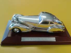 Mercedes Benz  - 500K 1934 chrome - 1:43 - Magazine Models - magCHR500K | Tom's Modelauto's
