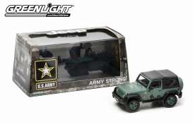 Jeep  - Wrangler soft top *US Army* 2012 dark green - 1:43 - GreenLight - 86043 - gl86043 | Tom's Modelauto's