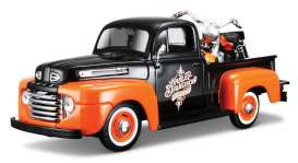 Ford Harley Davidson - 1948 black/orange - 1:24 - Maisto - 32180bko - mai32180bko | Tom's Modelauto's