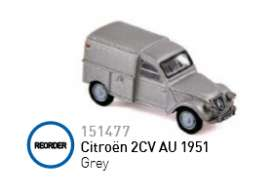 Norev - Citroen  - nor151477 : 1951 Citroen 2CV AU, grey