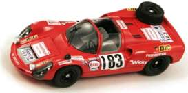 Porsche  - 1969 red - 1:43 - Spark - s3476 - spas3476 | Tom's Modelauto's