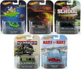 Hotwheels - Assortment/ Mix  - hwmvBDT77B~16 : 1/64 Retro Entertainment assortment.