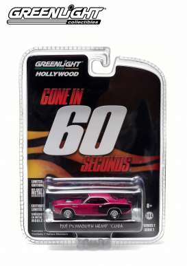 Plymouth  - 1971 purple - 1:64 - GreenLight - 44670F - gl44670F | Toms Modelautos