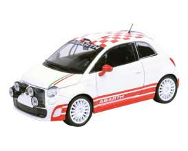 Fiat Abarth - 500 R3T 2009 white - 1:24 - Motor Max - 73379 - mmax73379 | Toms Modelautos
