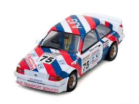 Ford  - Escort MKIII RS 1600i 1988 white/red/blue - 1:18 - SunStar - sun4966 | Tom's Modelauto's
