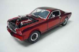 Shelby  - 1965 candy red/silver - 1:18 - Shelby Collectibles - shelby117-1 | Toms Modelautos