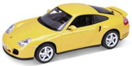 Porsche  - yellow - 1:18 - Welly - 19850y - welly19850y | Tom's Modelauto's