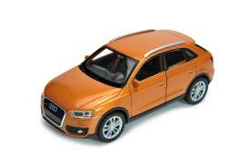 Audi  - 2015 orange - 1:34 - Welly - 43666 - Welly43666 | Tom's Modelauto's