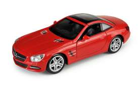 Mercedes Benz  - 2012 red - 1:34 - Welly - 43662H - Welly43662H | Tom's Modelauto's