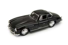 Mercedes Benz  - 1955 black - 1:34 - Welly - welly43656bk | Tom's Modelauto's