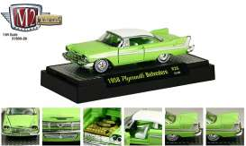 Plymouth  - 1958 green/white - 1:64 - M2 Machines - 31500-26-2 - M2-31500-26-2 | Toms Modelautos