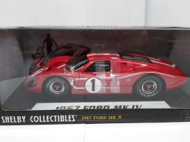 Ford  - 1967 red/white - 1:18 - Shelby Collectibles - shelby423 | Toms Modelautos