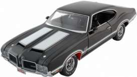 Oldsmobile  - 1971 black w/white stripes - 1:18 - Exact Detail - ed307 | Toms Modelautos