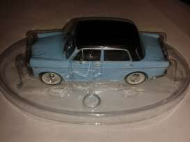 Fiat  - 1100 blue with black roof. - 1:43 - Magazine Models - BPfi1100 - magBPfi1100 | Tom's Modelauto's