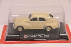 Peugeot  - 203 1950 creme - 1:43 - Magazine Models - AP203cr - magAP203cr | Tom's Modelauto's
