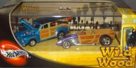 Hotwheels - Ford  - hwmv56925 : 1/64 Wild Wood *Woody* double set 100% Hotwheels collectors edition.