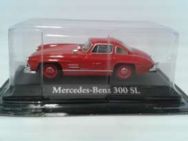 Mercedes Benz  - 1954 red - 1:43 - Magazine Models - RBA300SL - magRBA300SL | Toms Modelautos