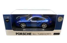 Joy City - Porsche  - joy850103b : 1/24 Porsche 911 Turbo 997, blue