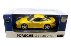 Joy City - Porsche  - joy850102y : 1/24 Porsche 911 Turbo 997, yellow