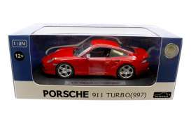 Joy City - Porsche  - joy850105r : 1/24 Porsche 911 Turbo 997, red