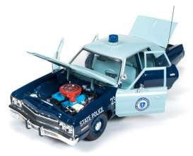 Dodge  - 1974 blue/light blue - 1:18 - Auto World - AMM1023 | Tom's Modelauto's
