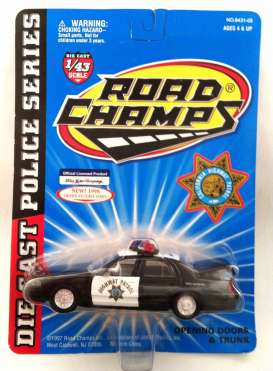 Ford  - 1998 black/white - 1:43 - Road Champs - road643105 | Toms Modelautos