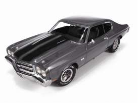 Chevrolet  - 1970 grey/black stripes - 1:43 - Auto World - R1135 - AWR1135 | Tom's Modelauto's