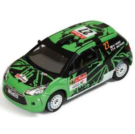 IXO Models - Citroen  - ixram461 : 2011 Citroen DS3 R3 #27 Rally Portugal G.Hunts/S.Marshall