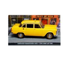 Checker  - yellow - 1:43 - Magazine Models - JBChecker - magJBChecker | Tom's Modelauto's