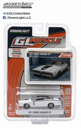 Dodge  - 1971 white/black - 1:64 - GreenLight - 13100D - gl13100D | Tom's Modelauto's