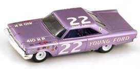 Ford  - 1963 purple - 1:43 - Spark - s3597 - spas3597 | Tom's Modelauto's