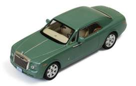 IXO Models - Rolls Royce  - ixmoc166 : 2008 Rolls Royce Phantom Coupe (with Arab license plate, Metallic green