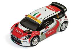 IXO Models - Citroen  - ixram468 : 2011 Citroen DS3 R3 #5 Monza Rally L. Pirollo/R. Capello, red/white