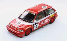 Triple9 Collection - Honda  - T9-1800107 : 1988 Honda Civic EF3 #13 Macau GP *Cabin* *Diecast Sealed Body Series*, red