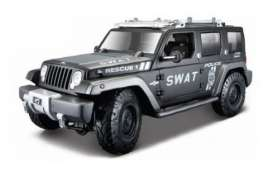 Maisto - Jeep  - mai36211 : Jeep Rescue Police SWAT version, black