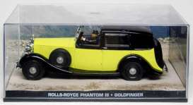 Rolls Royce  - Phantom yellow/black - 1:43 - Magazine Models - JBphantom - magJBphantom | Toms Modelautos