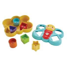 Mattel Fisher Price - Baby Articles  Infants - MatCDC22 : Fisher Price Butterfly Shape Sorter First Blocks.