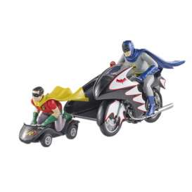 Hotwheels Elite - Batman  - hwmvCMC85 : 1/12 Batman Classic TV Series Batcycle With 2 Figures, Batman & Robin. Real Car Image, Not Final Yet !!