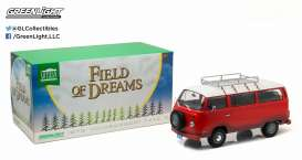 Volkswagen  - T2B *Filed of Dreams* 1973 red - 1:18 - GreenLight - 19010 - gl19010 | Tom's Modelauto's