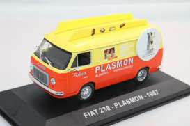 Fiat  - 1967 orange/yellow - 1:43 - Magazine Models - PUB238 - magPUB238 | Toms Modelautos
