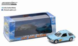 GreenLight - AMC  - gl86306 : 1977 AMC Pacer *Wayne's World*, light blue with flames.