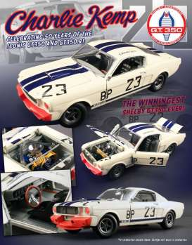 Shelby  - 1965 white/blue/red - 1:18 - Acme Diecast - acme1801812 | Tom's Modelauto's