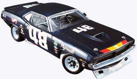 Acme Diecast - Plymouth  - acme1806101 : 1970 Plymouth Barracuda  #48 Dan Gurney, blue/yellow