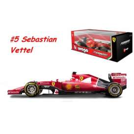 Bburago - Ferrari  - bura16801#5 : 2015 Ferrari F1 SF15-T #5 Sebastiaan Vettel *Ferrari Racing Collection*