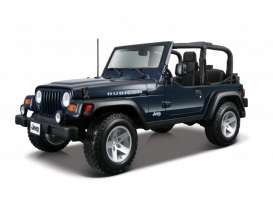 Maisto - Jeep  - mai31663db : Jeep Wrangler Rubicon Open, metallic dark blue