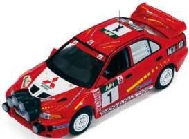 Mitsubishi  -  Lancer Evo V #1 1998 red - 1:43 - IXO Models - KB1062 - ixKB1062 | Tom's Modelauto's