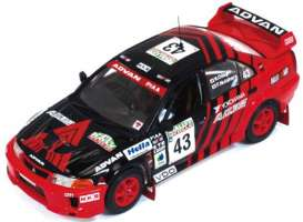 Mitsubishi  - Lancer Evo V #43 1999 black/red - 1:43 - IXO Models - KB1065 - ixKB1065 | Tom's Modelauto's