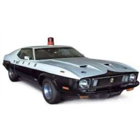 Ixo Premium X - Ford  - ixPRD400 : 1973 Ford Mustang Mach 1 Japanese Police, black/white