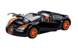 Bugatti  - 2014 black/orange - 1:18 - Rastar - rastar43900bk | Toms Modelautos