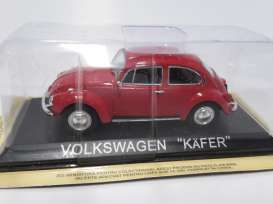 Magazine Models - Volkswagen  - maglcBEETLE : Volkswagen Beetle (Kafer) *Legendary cars* red